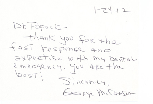 Pennsville Dentist Dr. Popeck Rave Reviews