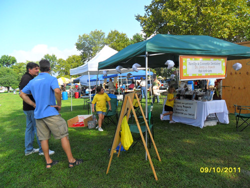 Pennsville Cosmetic Dentist Dr. Popeck's staff enjoy their time at SeptemberFest 2011