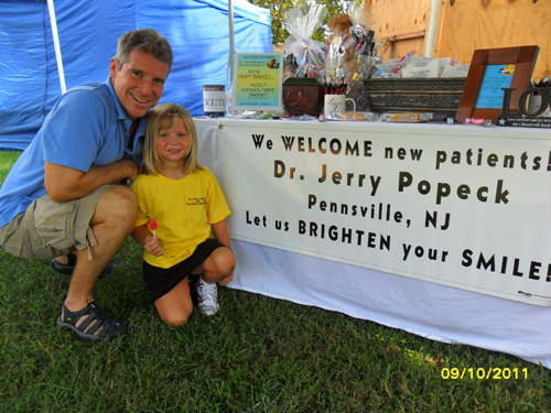 Dr Popeck and his family at the Pennsville SeptemberFest 2011